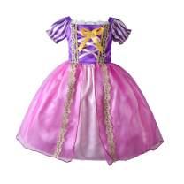 Girls' Princess Sofia Rapunzel Dress up Costume Cosplay Fancy Party Tutu Dress Halloween Christmas for 2-8 Years