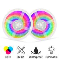Led Strip Lights, 32.8ft Color Changing Flexible Led Light Strips, RGB Multicolor Dimmable Tape Lights, Suitable for Bedroom, Kitchen, TV, and Indoor DIY Mood Lighting, Waterproof