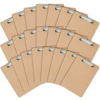 Letter Size Clipboards by Eathtek(Pack of 22).ECO Friendly Hardboard Clipboard, Low Profile Clip Hardboard Standard A4 Letter Size(9 x 12.5 inches)