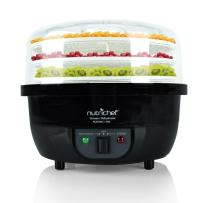 NutriChef Food Dehydrator Machine and Professional Electric Steamer, Cooker, Meat Preserver, Beef Jerky Maker, Fruit Dryer, Steams Rice and Vegetables with Stackable Trays in Black - (PKFDSRC11BK)