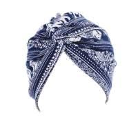 Novia's Choice Women Boho African Indian Floral Print Bowknot Turban Headwrap Beanie Bonnet Chemo Hair Loss Cap