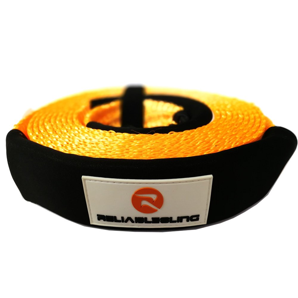 """Reliablesling Heavy Duty Recovery Tow Straps 3"""" X 20', 30000 Lb Capacity,Recover Vehicle Stuck in Mud/Snow Winch Snatch Strap-Protective Loops, Road Towing Rope"""
