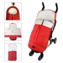 Baby Sleeping Bag, Unisex Comfort Sleeping Sack, Soft Anti-Kicking Sleeping Nest, Wearable Stroller Blanket, Washable Footmuff Foldable with Strollers,Red