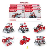 IRON COMMANDER Mini Erector Sets for Boys Age 8-12 Metal Building Set, Various Vehicles Model Stem Toys for Boys Ages 13 and up (Fire Series)