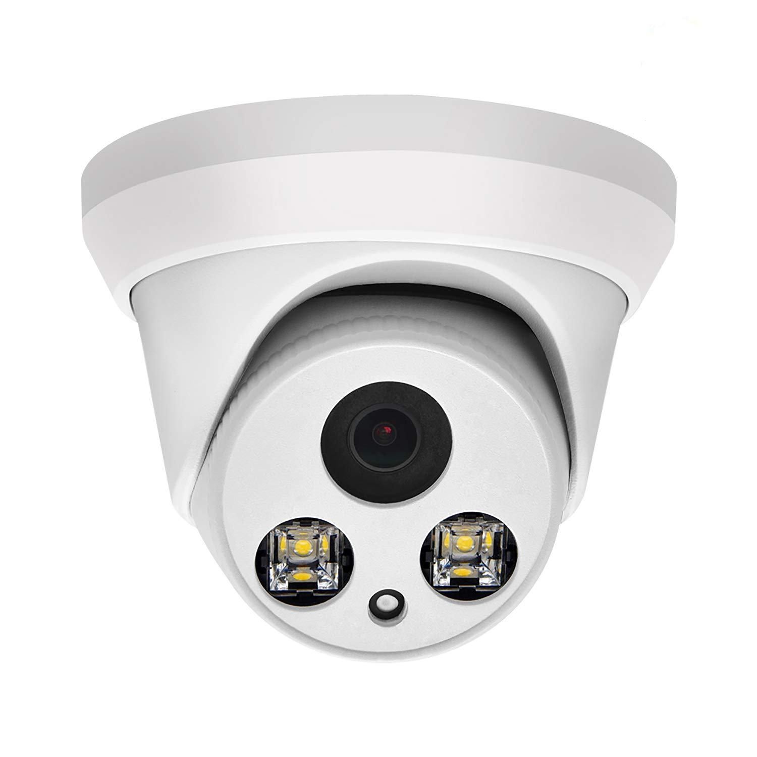 Hikvision Compatible Full Color 8MP Security Camera, 2.8mm Lens, Home Outdoor IP Surveillance Camera, PG2387C, IP67 Waterproof Cam PoE IP Camera, Motion Detection, Built-in Mic, H.265 3D DNR (8MP)