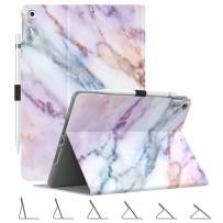 """Dadanism Case Fit New iPad 7th Generation 10.2"""" 2019, [Multi-Angle Viewing Stand] Slim Lightweight Shock Proof Protective Cover with Soft TPU Back, Auto Sleep/Wake, Fit iPad 10.2 inch - Purple Marble"""