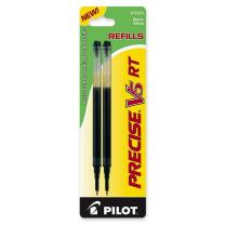 PILOT Precise V5 RT Liquid Ink Refill For Retractable Pens, Extra Fine Point, Black Ink, 2-Pack (77273)