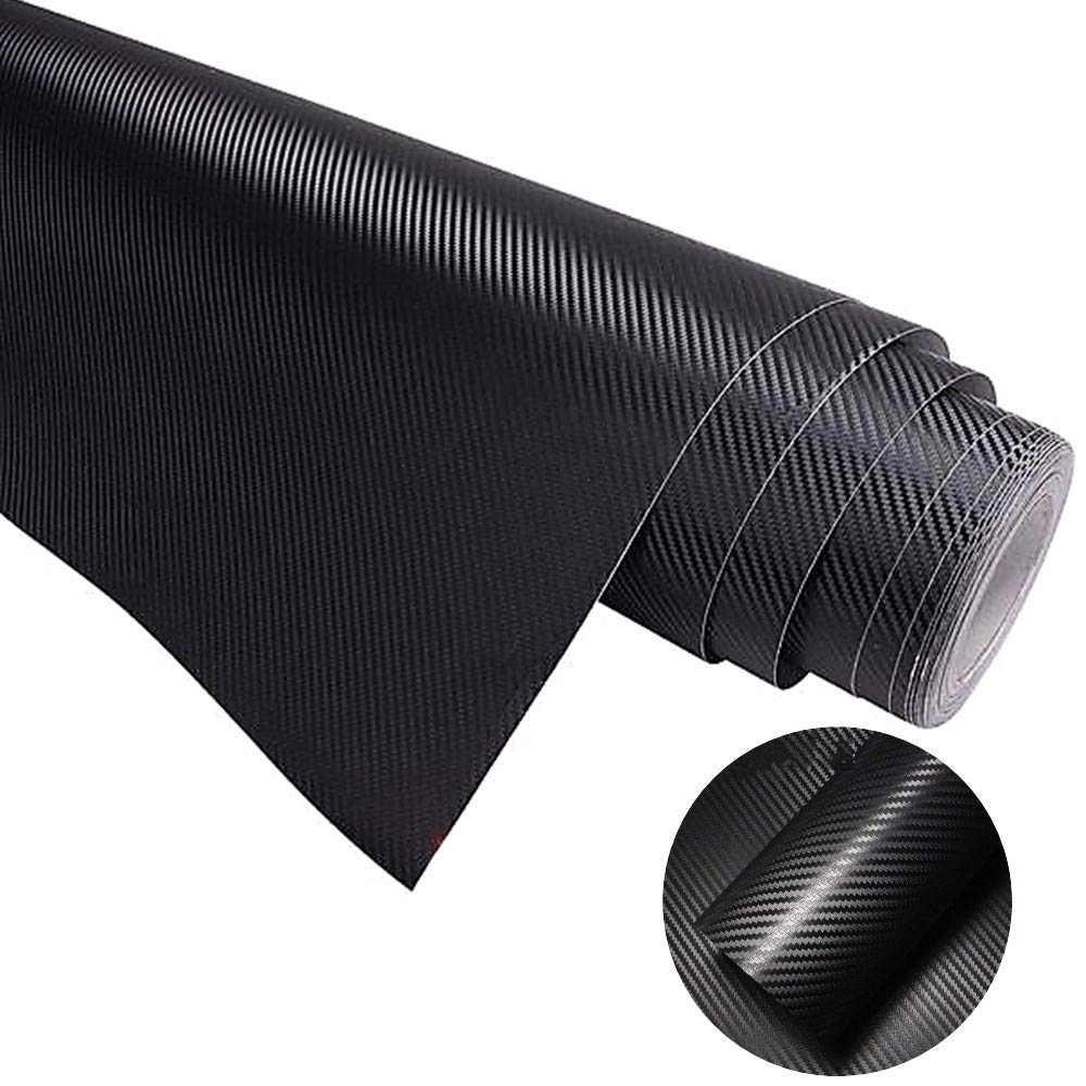 COSMOSS Ultra Realistic 6D Carbon Fiber Pattern Vinyl Wrap Roll 15-by-57 inch
