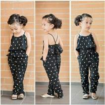 Baby Girls Love Heart Print Ruffle Jumpsuit Cute Sleeveless Summer Rompers with Pockets Toddler Kids Casual Clothes