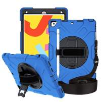 iPad Air 10.5-inch (3rd Gen) Case,FANSONG [Armor Series] Shockproof Silicone Cases with 360 Rotating Stand Hand Strap Dual Layer Full Body Rugged Protective Case for iPad Air 2019/ Pro 10.5-inch 2017
