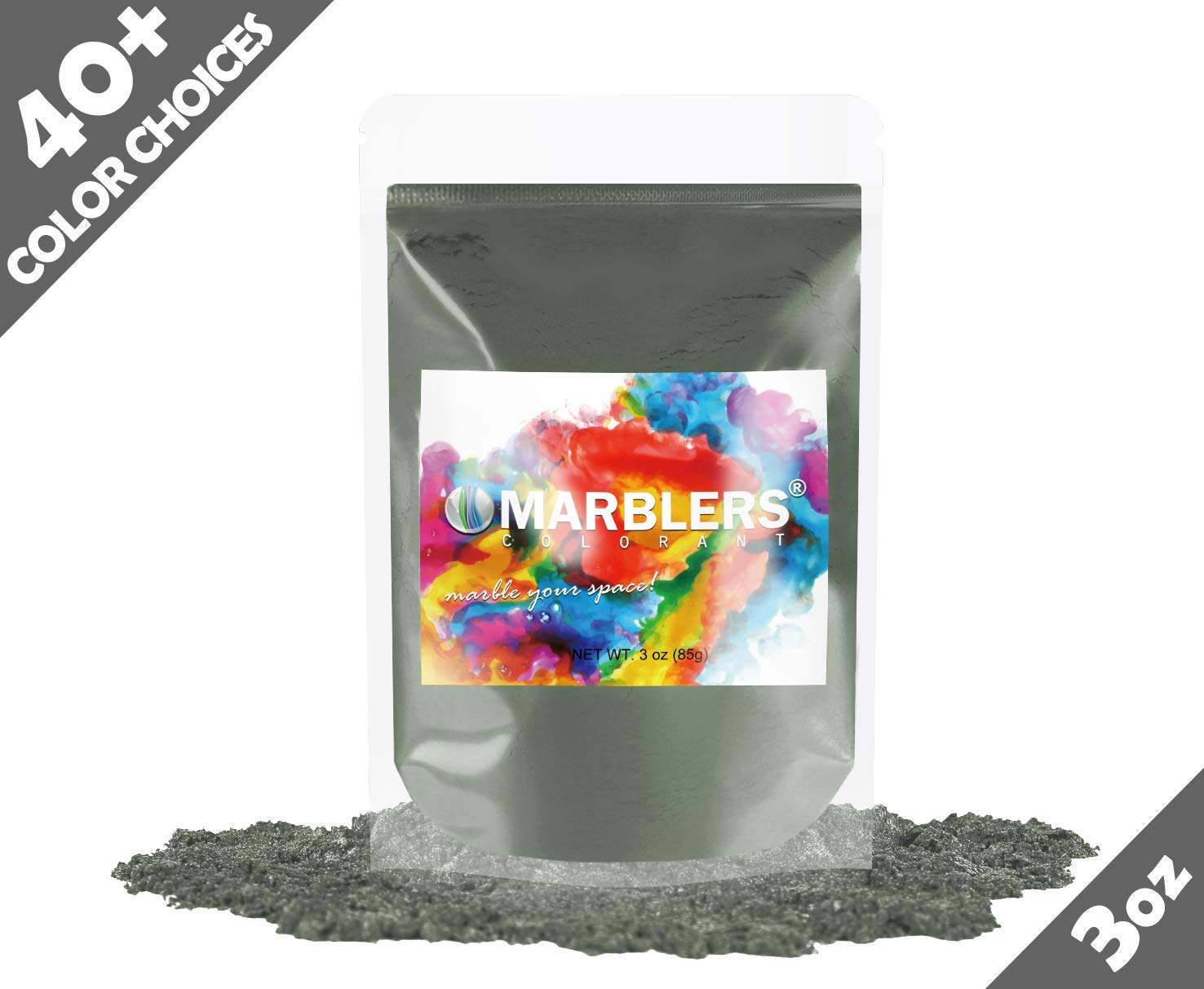 Marblers Powder Colorant 3oz (85g) [Khaki] | Pearlescent Pigment | Tint | Pure Mica Powder for Resin | Dye | Non-Toxic | Great for Epoxy, Soap, Nail Polish, Cosmetics and Bath Bombs