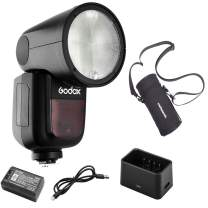 Godox V1-P Flash for Pentax, 76Ws 2.4G TTL Round Head Flash Speedlight, 1/8000 HSS, 1.5 sec. Recycle Time, 2600mAh Lithium Battery, 10 Level LED Modeling Lamp,W/Pergear Storage Bag