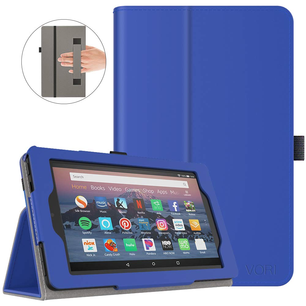 VORI Case for All-New Fire 7 Tablet (9th Generation, 2019 Release), Folio Smart Cover with Auto Wake/Sleep, Dark Blue