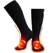 Heated Socks Men Women US Size 6-14,Electric Novelty Foot Warmers Sox for Chronically Cold Feet