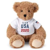 Vermont Teddy Bear Team USA – Tokyo Olympics, Officially Licensed, 13 Inch, Super Soft, Almond
