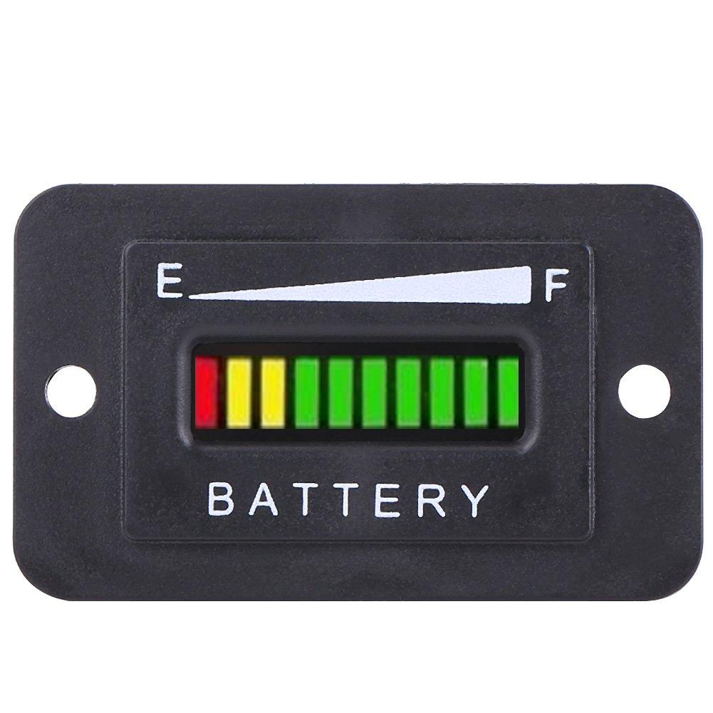48 Volt Battery Indicator Golf Cart Battery Meter 48v Golf Cart Battery Meter 48v