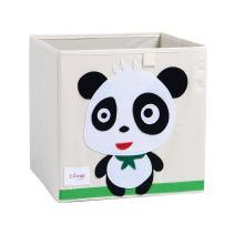 DODYMPS Foldable Animal Canvas Storage Toy Box/Bin/Cube/Chest/Basket/Organizer for Kids, 13 inch (Panda)