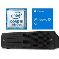 HP Z2 G4 Small Form Factor PC with Dual Serial Port Combo, 4.1 GHz Intel i5 Processor, DVDR - Windows 10 Pro (Renewed)