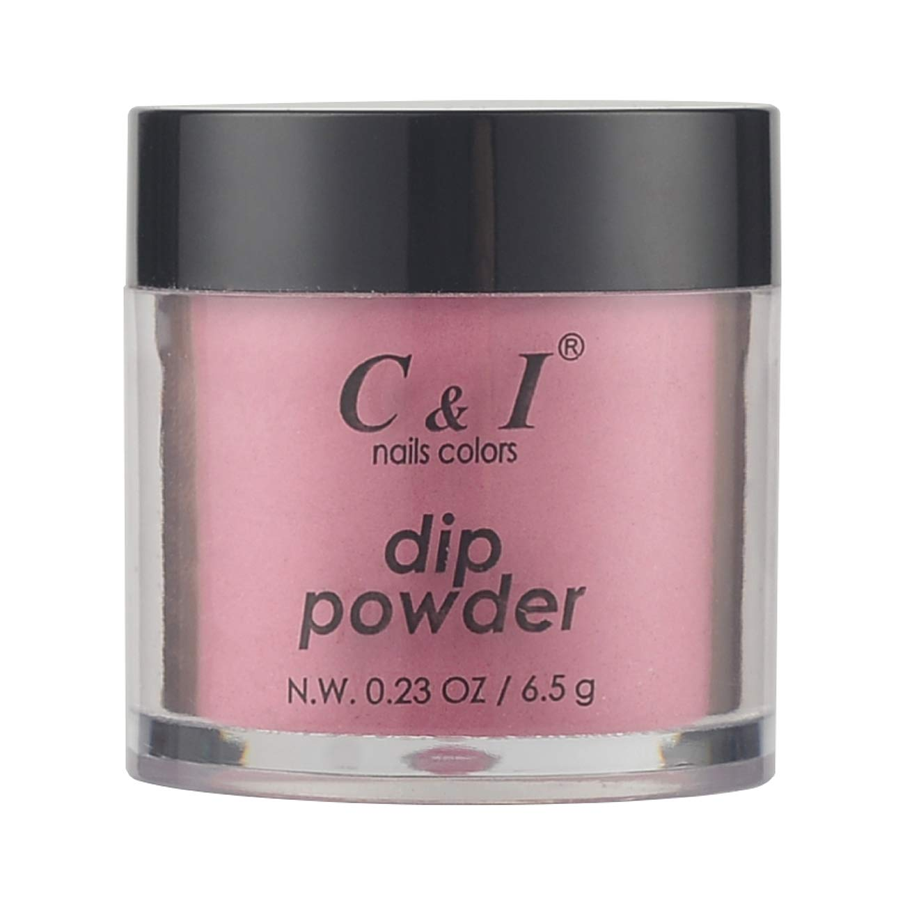 C & I Dipping Powder, Nail Colors, Gel Effect, Color # 52 Rose-Carmine, 0.23 oz, 6.5 g, Purple Color System (4 pcs)