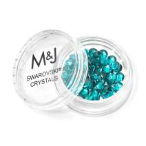 Swarovski Crystals Flat Back Rhinestones - 2088 Xirius Rose Round Foil Backed - SS20 (4.6mm-5mm) - Blue Zircon 229 (Blue)