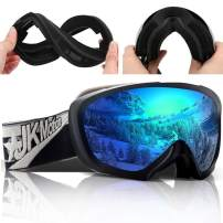 JK MOTION Ski Goggles Men Youth Boys Women and Girls Anti Fog Snowboard Goggles