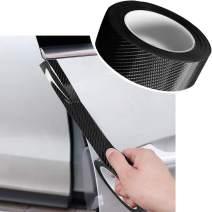 Car Door Edge Guard Bumper Protector 5D Carbon Fiber Wrap Film Waterproof Anti-Collision Strip for Car Door Guard/Front and Rear Bumper/Door Sill Protector (1.2In x 33Ft, Black)