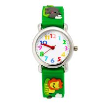 Jewtme Kids Time Teacher Watches 3D Cute Cartoon Silicone Children Toddler Wrist Watches Gift for 3-7 Year Old Boys Girls Little Child (Lion Green)