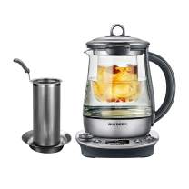 Buydeem K2973 Flagship Health- Care Beverage Tea Maker and Kettle, 8-in-1 Programmable Brew Cooker Master, 1.5L, Silvery