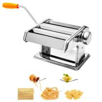 Pasta Maker, Roller Pasta Machine Stainless Steel Noodle Maker – 6 Adjustable Thickness Settings