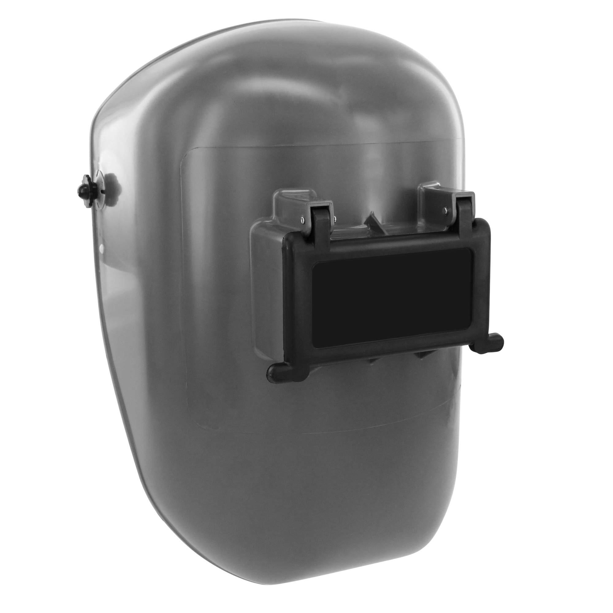 Fibre-Metal by Honeywell Tigerhood Classic Thermoplastic Welding Helmet with Speedy Loop Hard Hat Mount, Gray (5906GY)