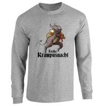 Pop Threads Frohe Krampusnacht Krampus Christmas Funny Full Long Sleeve Tee T-Shirt