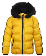 MADHERO Boy's Hooded Puffer Jacket Water-Resistant Winter Insulated Outerwear Coat