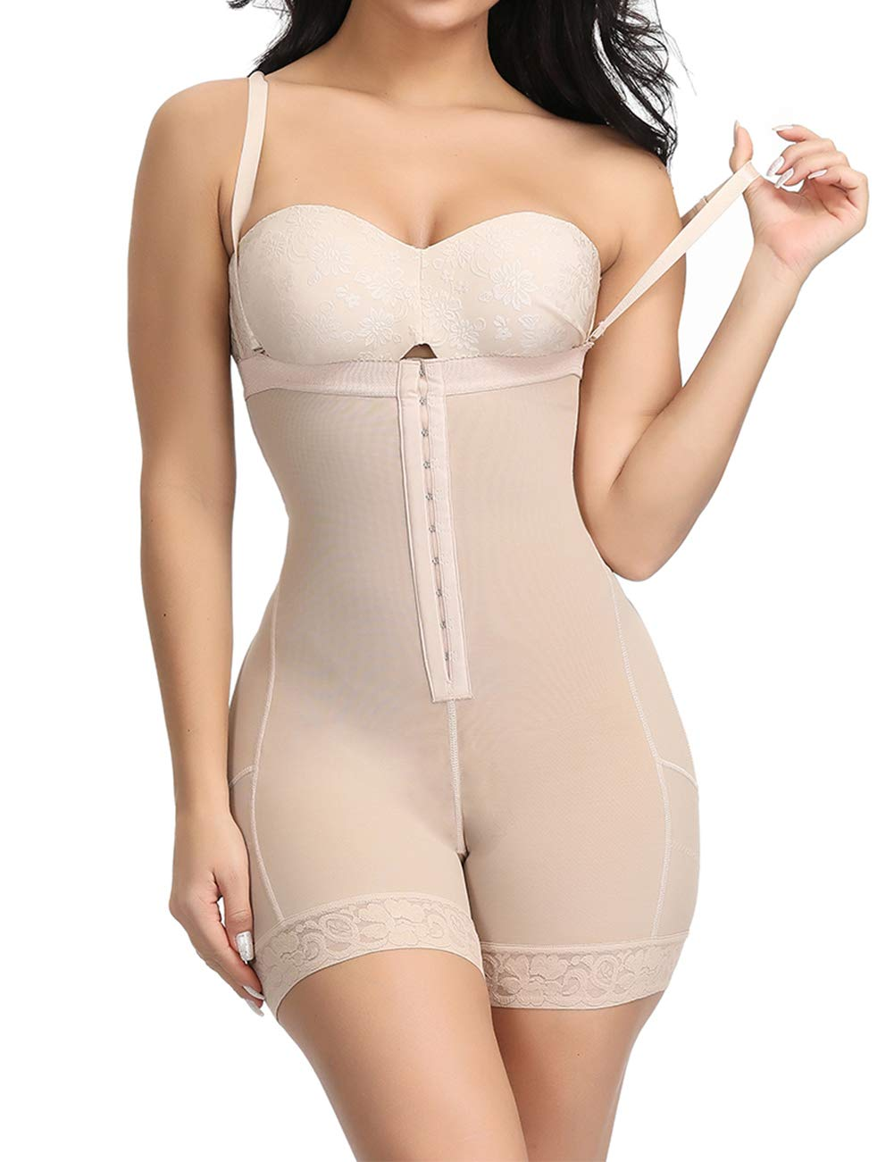 Lover-Beauty Women Thigh Slimmer High Waist Body Shaper Butt Lifter Firm Control Shapewear