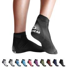 BPS 'Second Skin' Soft and Ultra Stretch Beach Water Socks, Flexible Neoprene Sole Anti-Slip Wetsuit Fin Booties, High Cut Low Cut Unisex