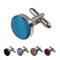Dan Smith Men's Fashion Series Colours Microfiber Patterns Designer Cufflinks - 5PT With Free Gift Box