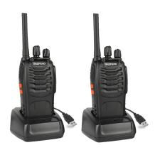 BAOFENG BF-88A Walkie Talkie with Earpiece (Upgrade Version BF-888S) FRS Rechargeable Two Way Radio VOX with USB Charging LED Flashlight, 2 Pack