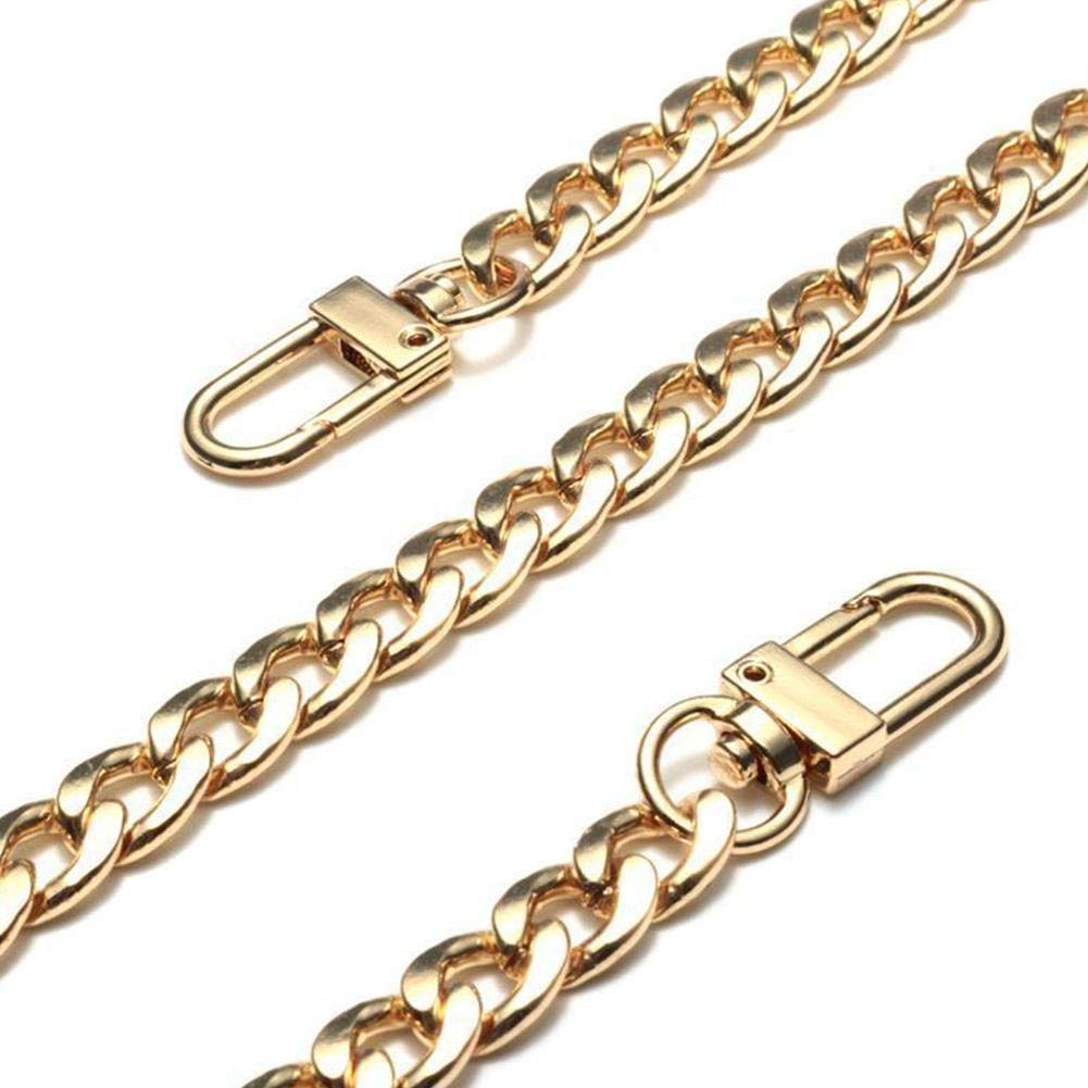 Purse Chain Strap Handle Shoulder Crossbody Handbag Bag Metal Replacement 3 Color 20CM - 120CM Selected (Gold, 120CM)