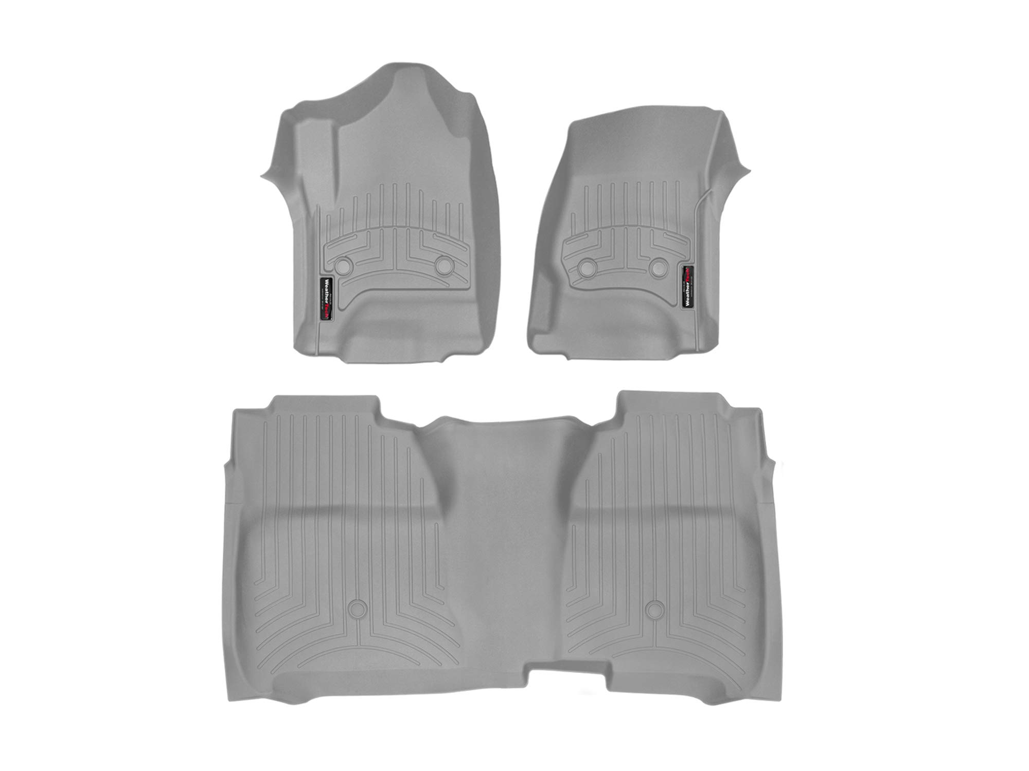 WeatherTech Custom Fit FloorLiner for Silverado/Sierra Crew Cab - 1st & 2nd Row (Grey)