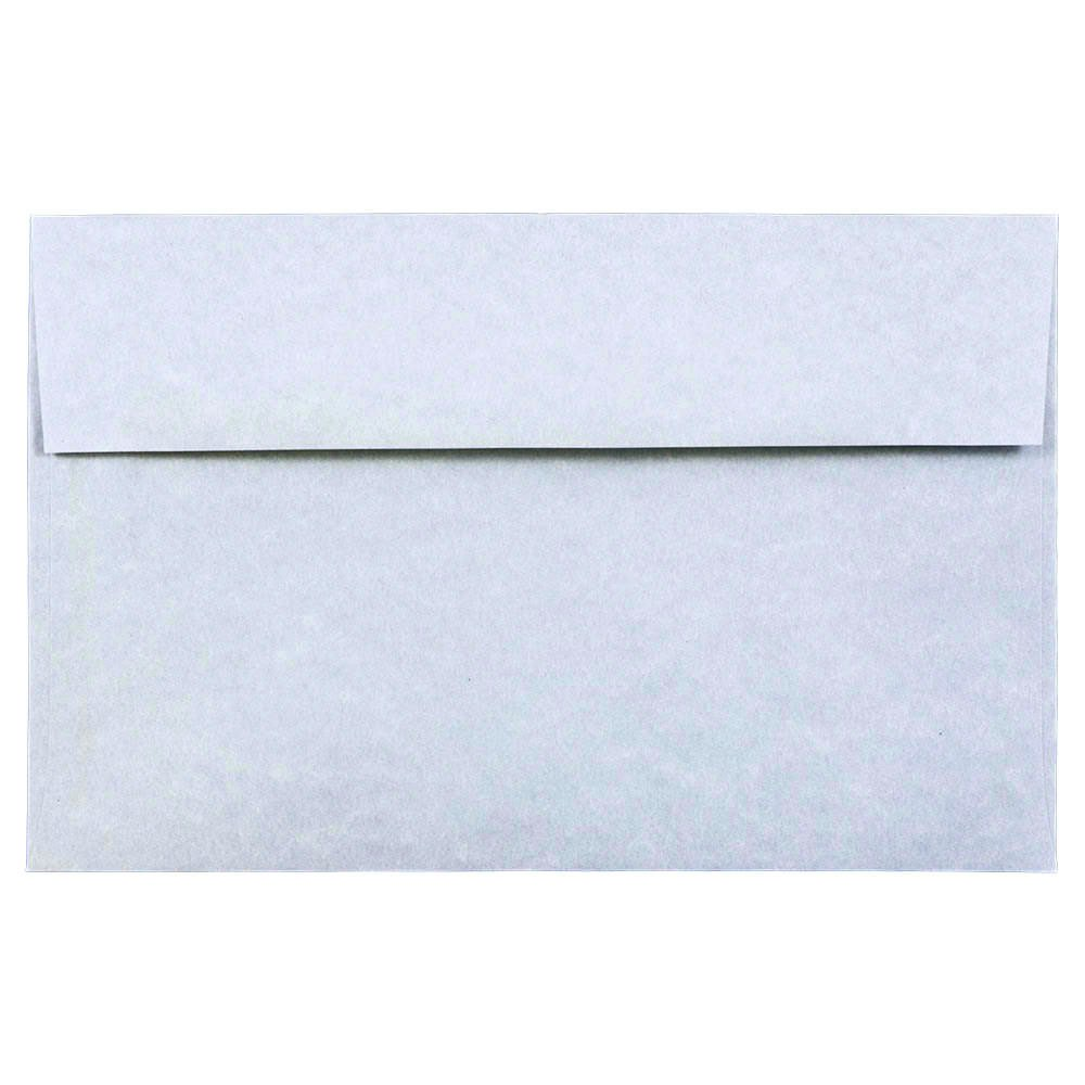 JAM PAPER A10 Parchment Invitation Envelopes - 6 x 9 1/2 - Blue Recycled - 25/Pack