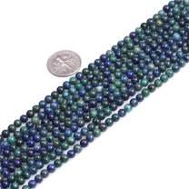"JOE FOREMAN Lapis Lazuli Malachite Beads for Jewelry Making Gemstone Semi Precious 4mm Round 15"" Dyed Color"