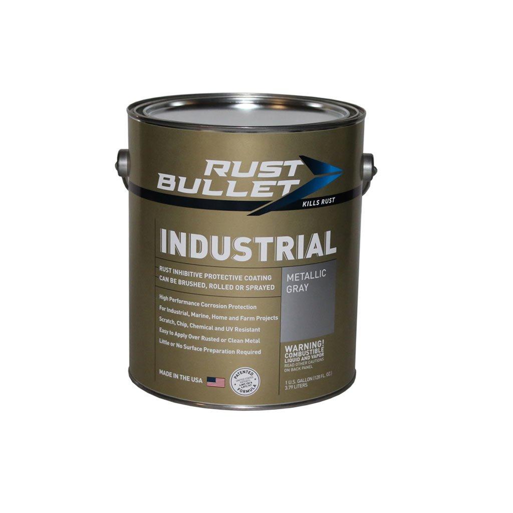 Gallon - Rust Bullet - Rust Inhibitor Paint, Industrial Coating - Metallic Grey