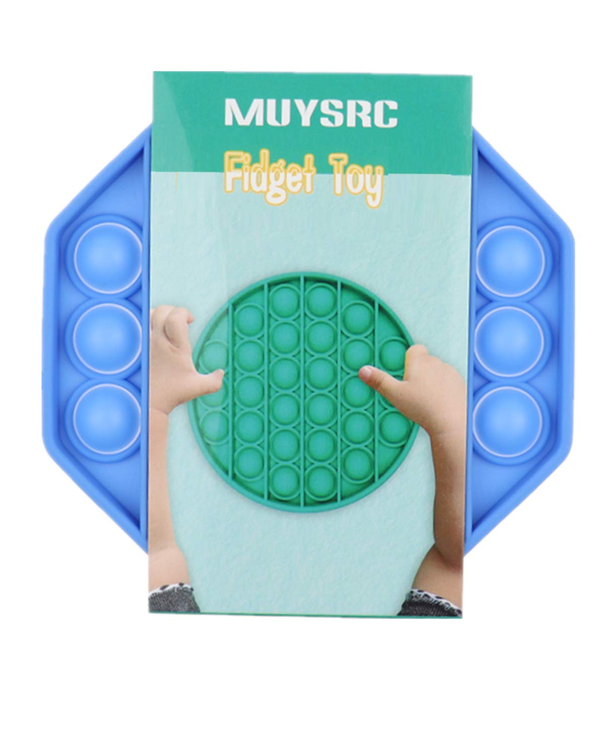 MUYSRC Popping Fidget Toy,Push Pop Bubble Sensory Fidget Toy Push Pop Fidget Toy,Push Bubble, Popping Game,Chuckle and Roar Stress Reliever,Bubble Popping