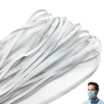 """Elastic Sewing Band 1/4"""" Width Braided White Cord Knit DIY String for Handmade Making, Spool Roll, Stretch Craft Elastic"""