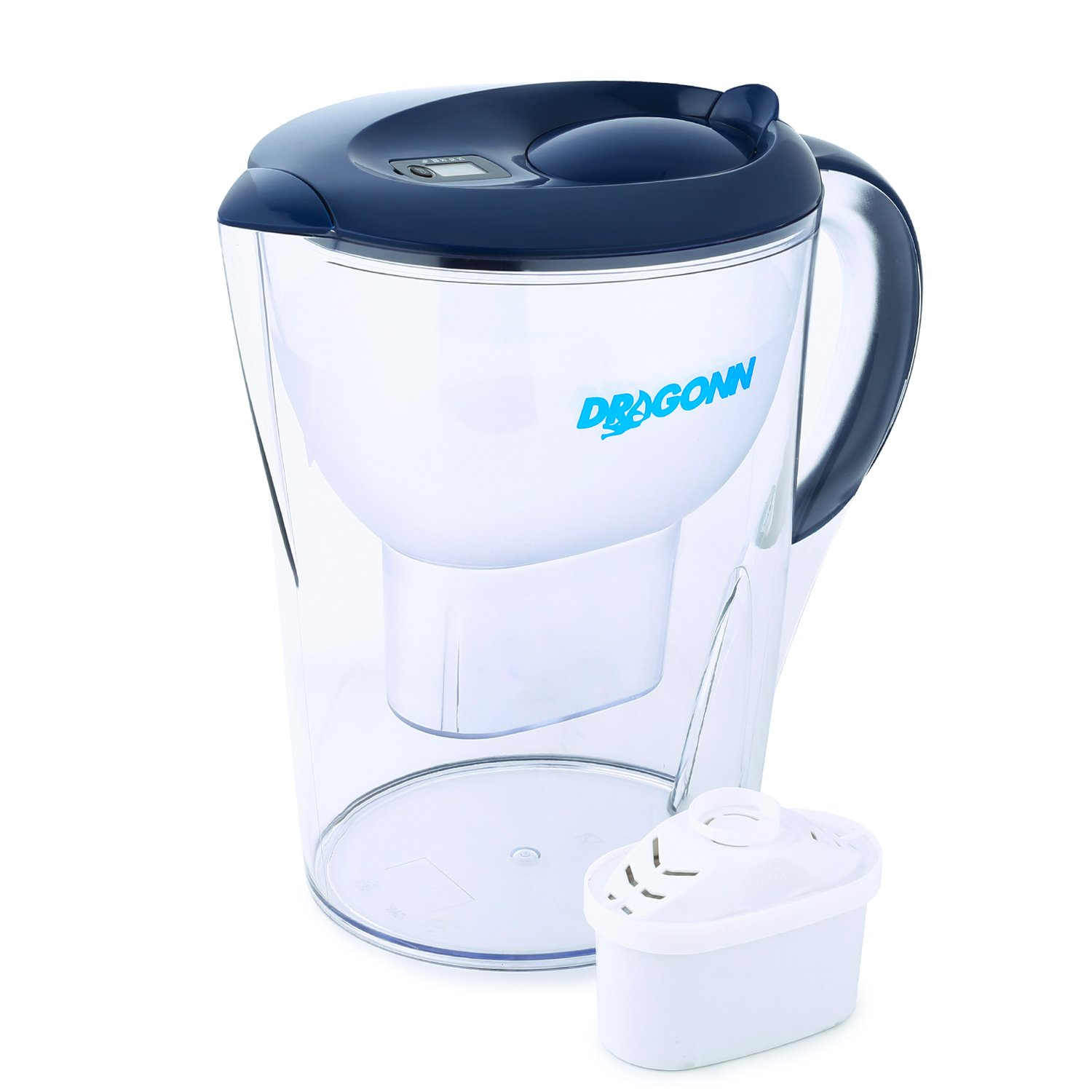 DRAGONN Alkaline Water Pitcher - 3.5 Liters, Free Filter Included, Removes Lead, Chlorine, Copper and more, PH 8.5-9.5 Enhanced 2019 Model