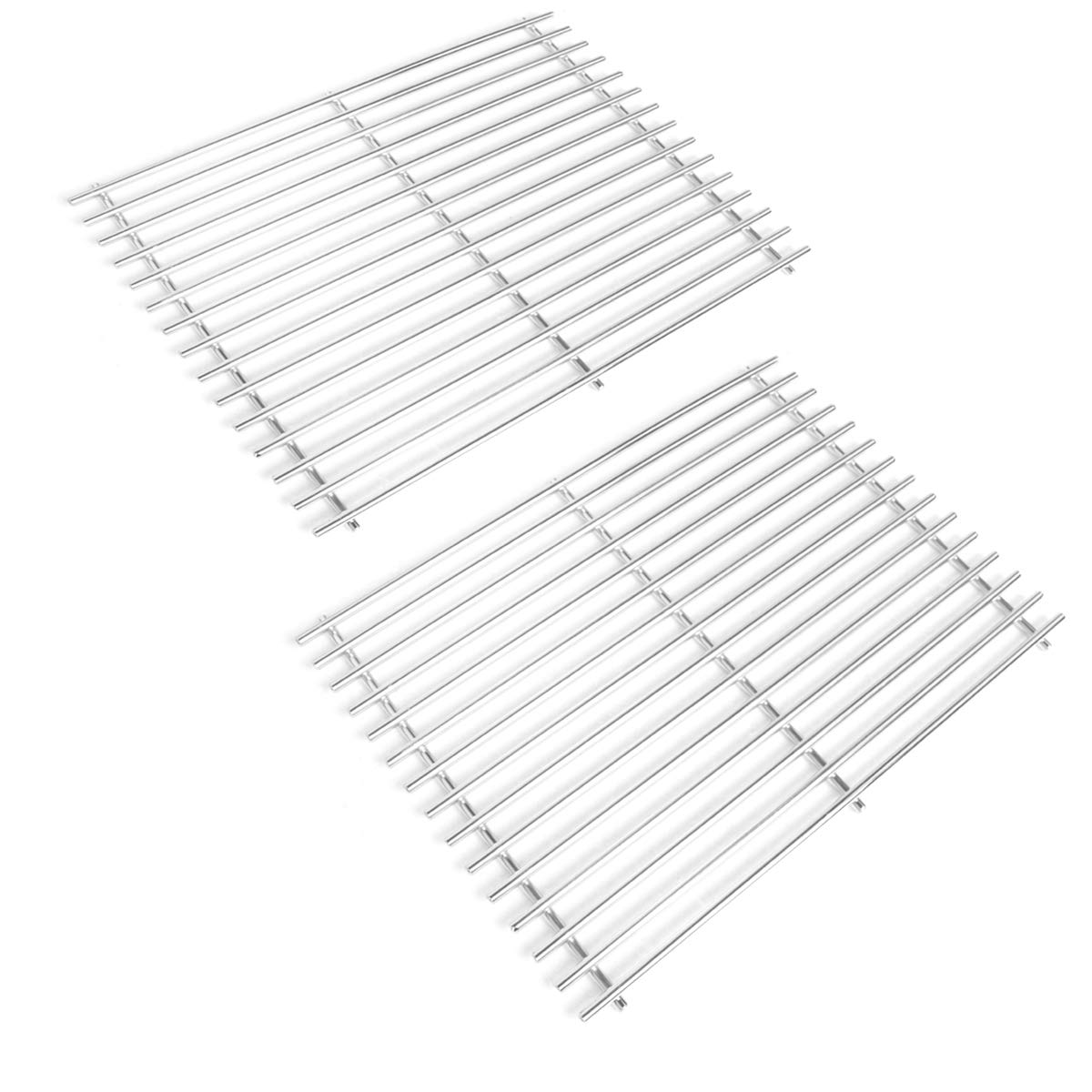 Stanbroil Stainless Steel Grill Cooking Grates Fit Weber Spirit 500, Genesis Silver A and Spirit 200 Series (with Side Control Panels) Gas Grill, Replacement parts for Weber 7521 7522 7523 65904 65905