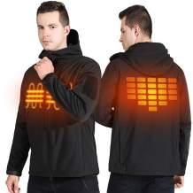 UTUZHE Heated Jackets for Men Waterproof WarmTactical Jacket Heated Hoodie Overalls
