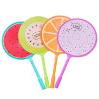 WIN-MARKET Fashion Cute Colorful Kawaii Lovely Cartoon Fruits Fan Gel Ball Pens Office School Supply Stationery(6PCS)
