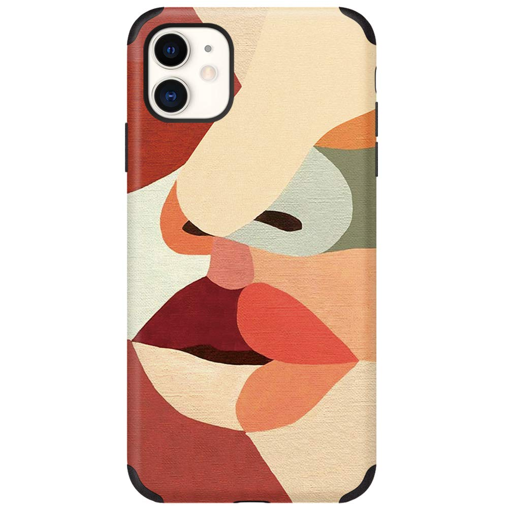 CUSTYPE iPhone 11 Case for Women Girls, Print Art Series Pattern Case Soft TPU Slim Shockproof Back Shell Case for iPhone 11 6.1 inch Face