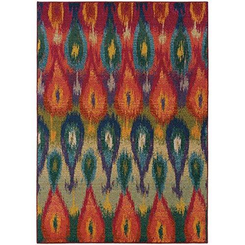 """Oriental Weavers 2061Z Kaleidoscope Area Rug, 7' 10"""" x 11', Multi Colored"""