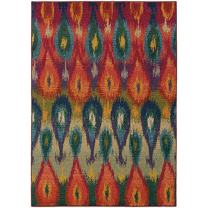 "Oriental Weavers 2061Z Kaleidoscope Area Rug, 7' 10"" x 11', Multi Colored"